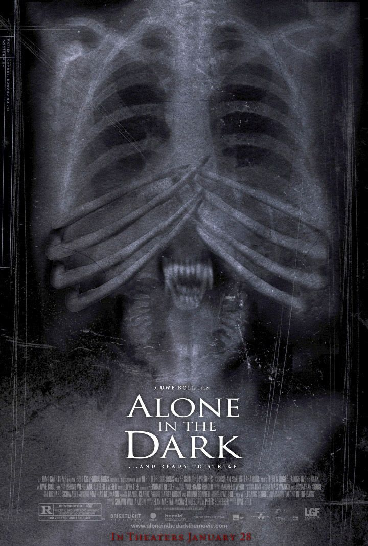 Alone In The Dark 2005 Movie Poster Alone In The Dark Old Movie Posters Good Old Movies