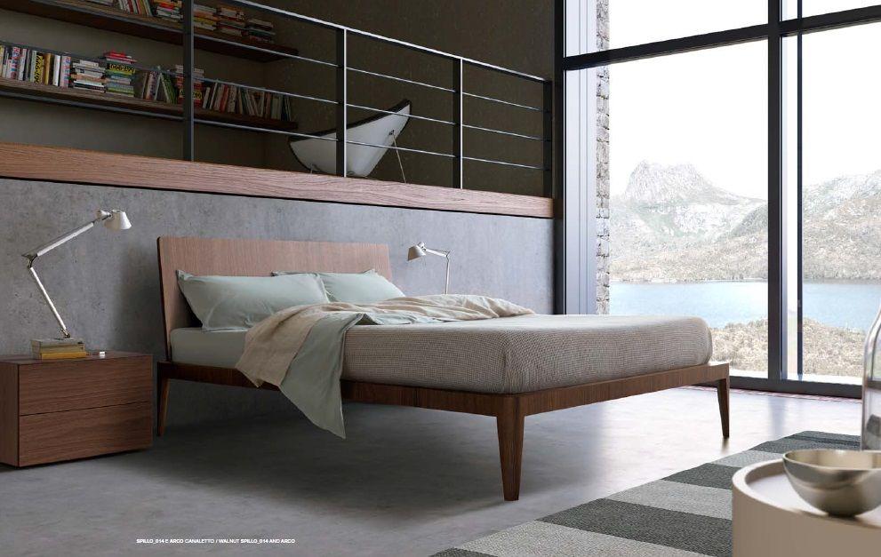 Letto matrimoniale in legno moderno spillo di pianca letto