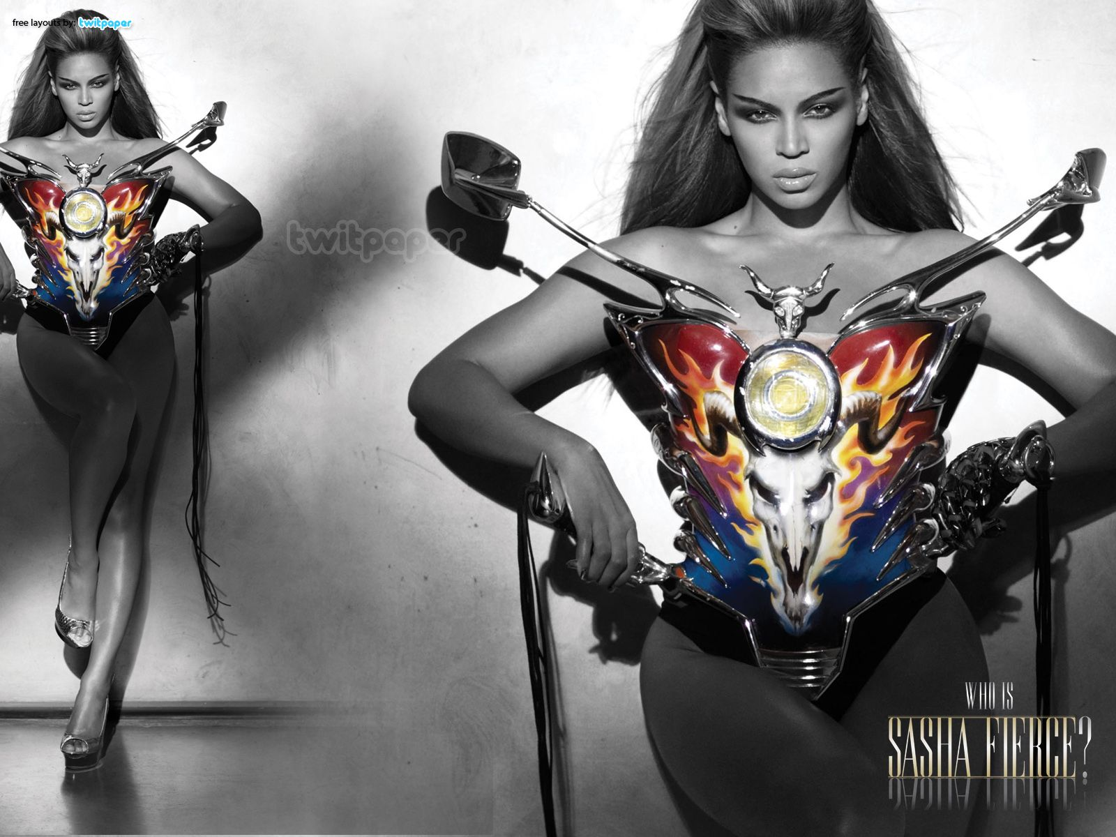 Beyonce As Sasha Fierce (With Baphomet Bustier)