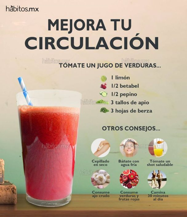 Hábitos Health Coaching Jugo De Verduras Para Mejorar La Circulación Detox Juice Detox Juice Recipes Healthy Drinks
