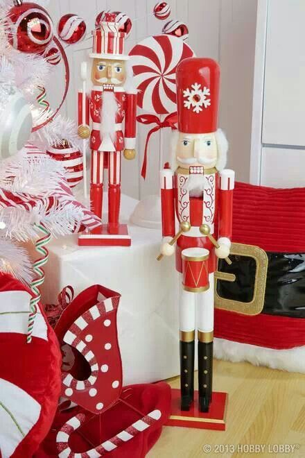 NUTCRACKER~Cheer up your Christmas decor with the classic peppermint twist. - And This! Christmas Pinterest Candy Theme And Christmas Candy