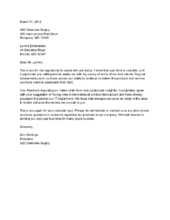 Sample Thank You Letter From Guest To Hotel Manager   services     lbartman com