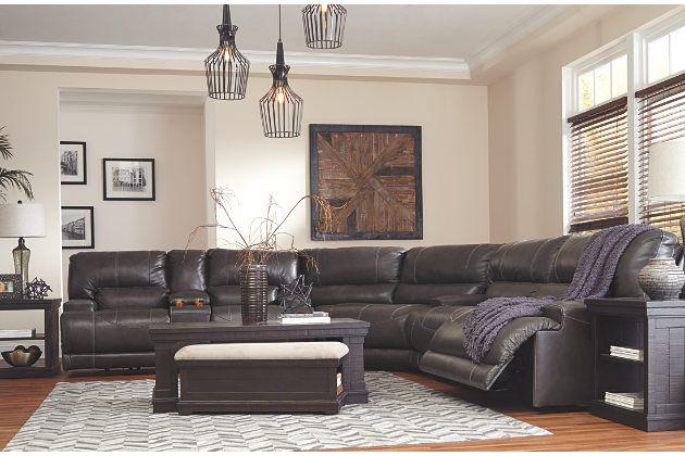 Gray McCaskill Reclining Sectional Sofa Ashley Furniture ...
