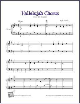 Hallelujah Chorus Handel Piano Sheet Music Hallelujah Chorus