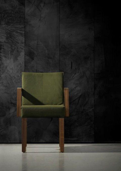 concrete wallpaper (linda ideia do concreto em papel de parede. perfeito!)