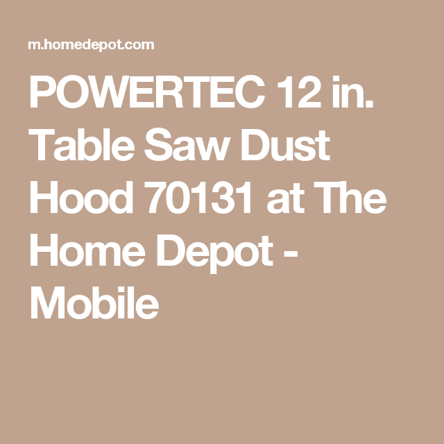 Powertec 12 In Table Saw Dust Hood 70131 Home Depot Concrete Steps Cube