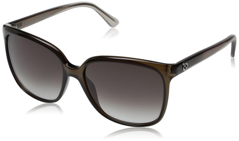 06c41fdeed0 Gucci Sunglasses - 3696   Frame  Transparent Brown Lens  Brown Gradient ( eBay Link)