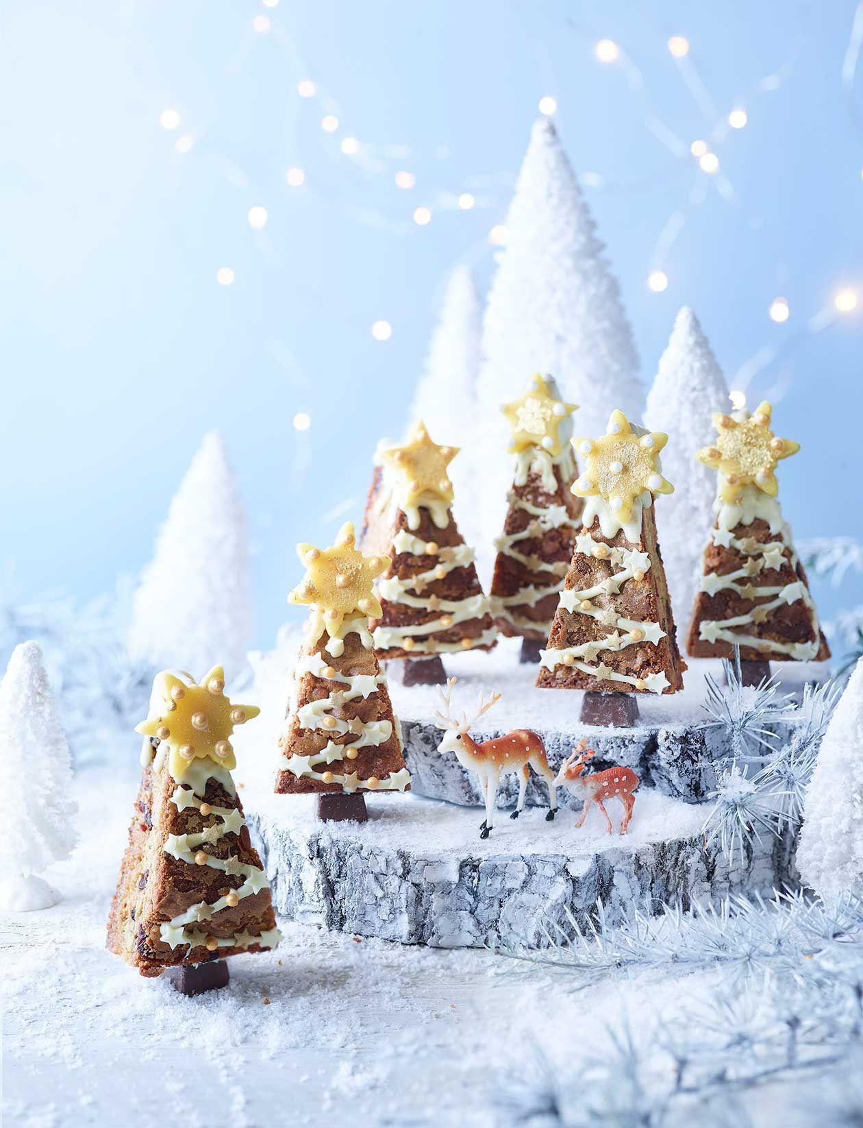 Stollen blondie Christmas trees Recipe in 2020