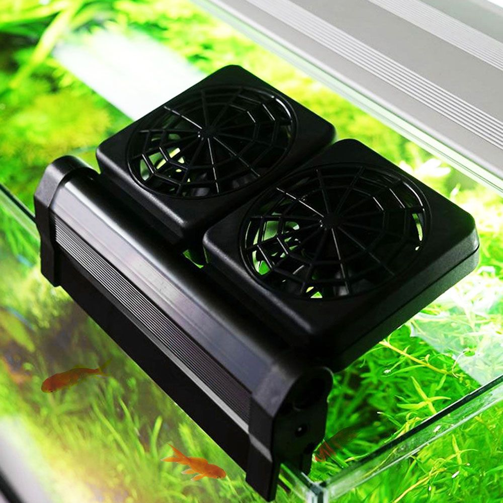 1 2 3 4 Fans Aquarium Chiller Cooling Fan Fish Tank Cold Wind