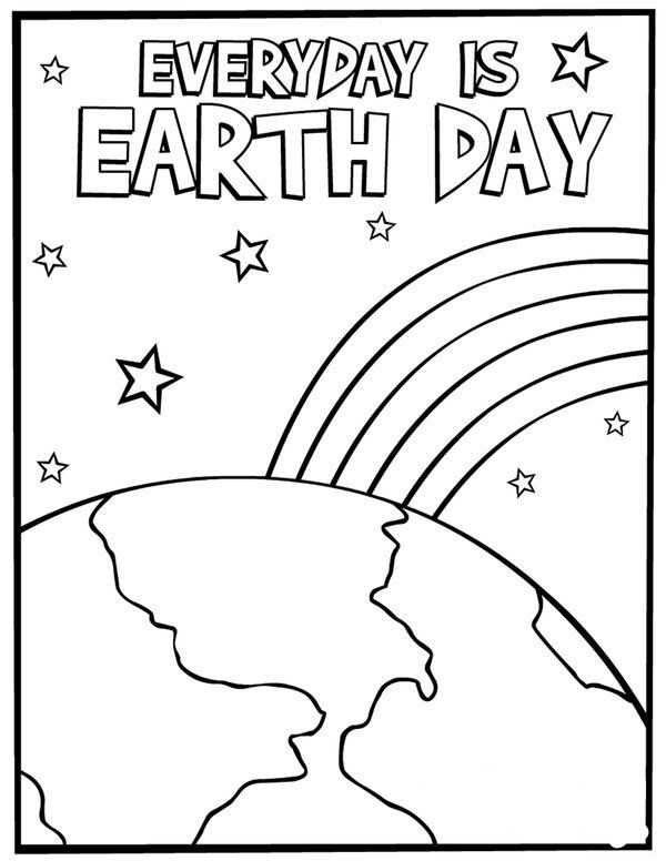 Earth Day Coloring Pages Picture 10 For The Classroom Pinterest