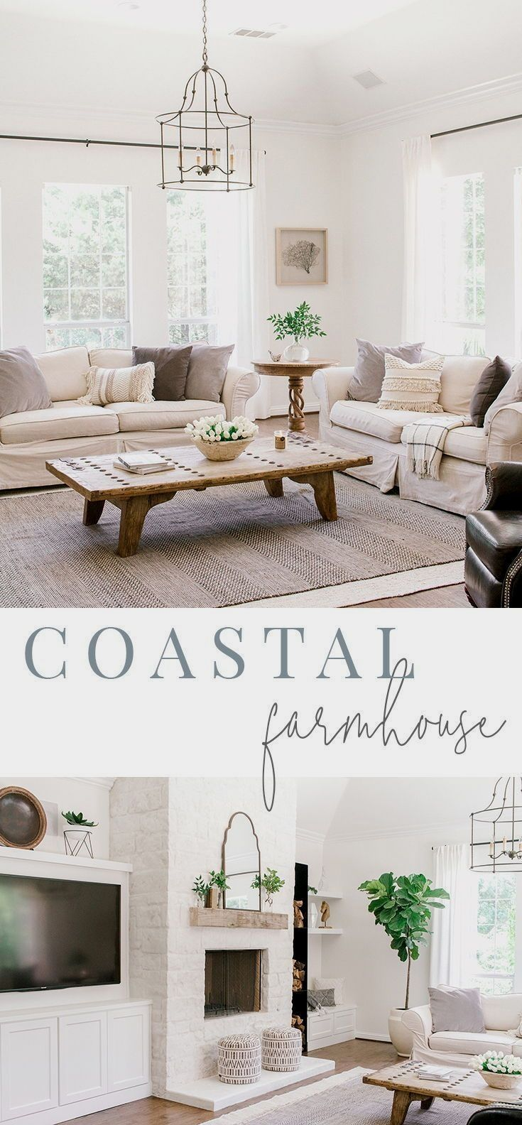 Coastal Farmhouse Living Room Reveal  — Farmhouse Living
