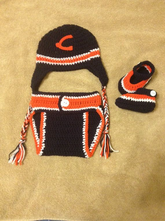 Crochet baby boy outfit Chicago Bears inspired | Christmas gifts ...