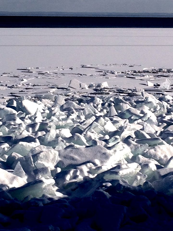 Pressure Ridge of Ice Waves along Superior North Shore Drive