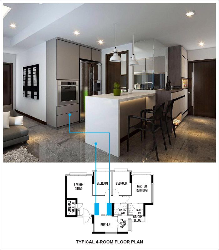 15 Practical Layout Designs For Punggol Matilda Court Interior Design Singapore Open Concept Kitchen Renovation Design