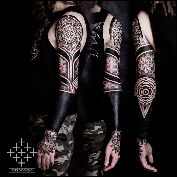 DeviantArt: More Like Ornamental blackwork tattoo sleeve ...