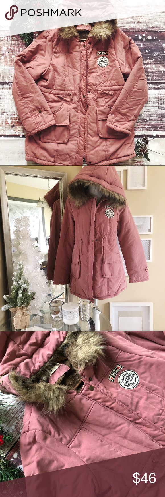 Fleece lined anorak coat nwt in my posh picks pinterest
