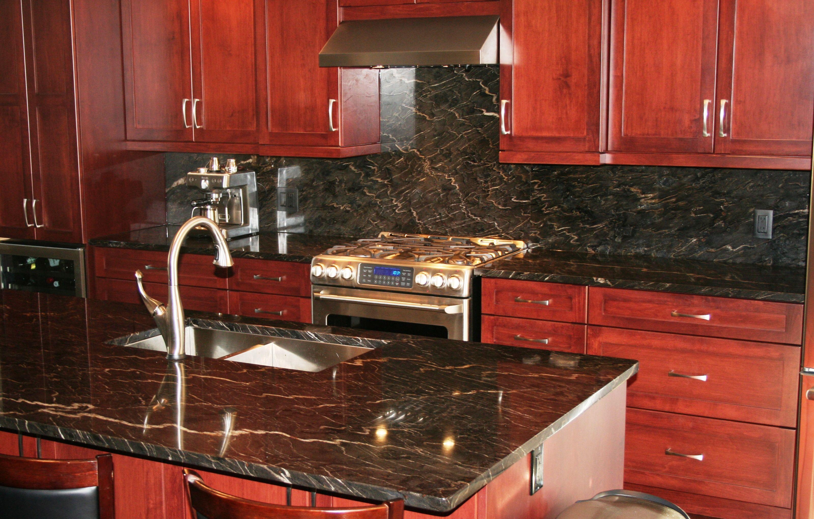 Titanium Granite Kitchen Granite Countertop Windsor Ontario Twilight Granite Kitchen