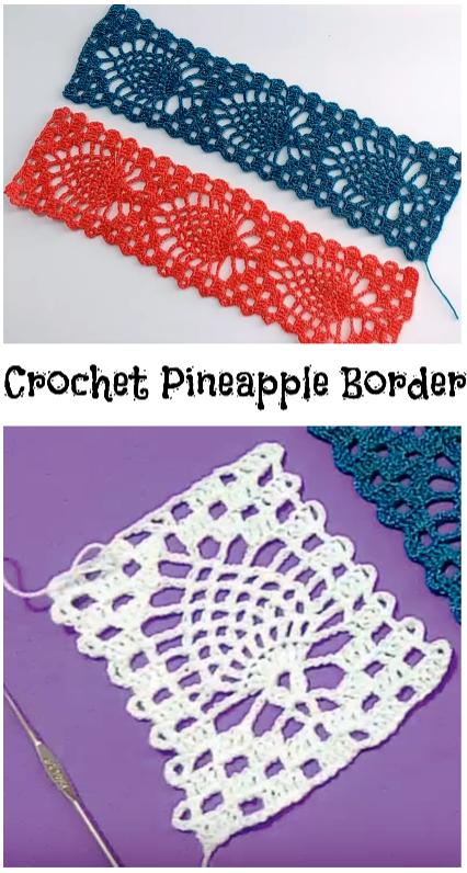 Pineapple border | crochet edging and borders 3 | Pinterest ...