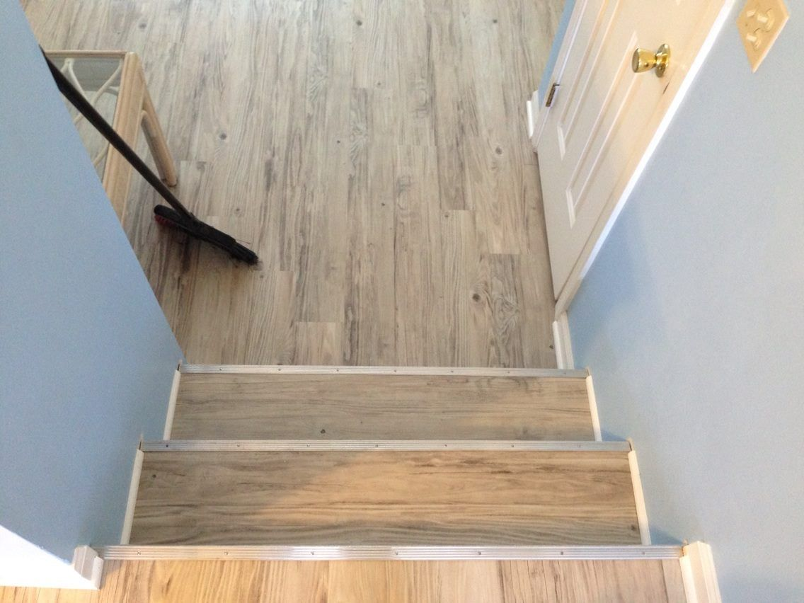 600sqft Of Konecto Vinyl Plank Custom Stair Nose