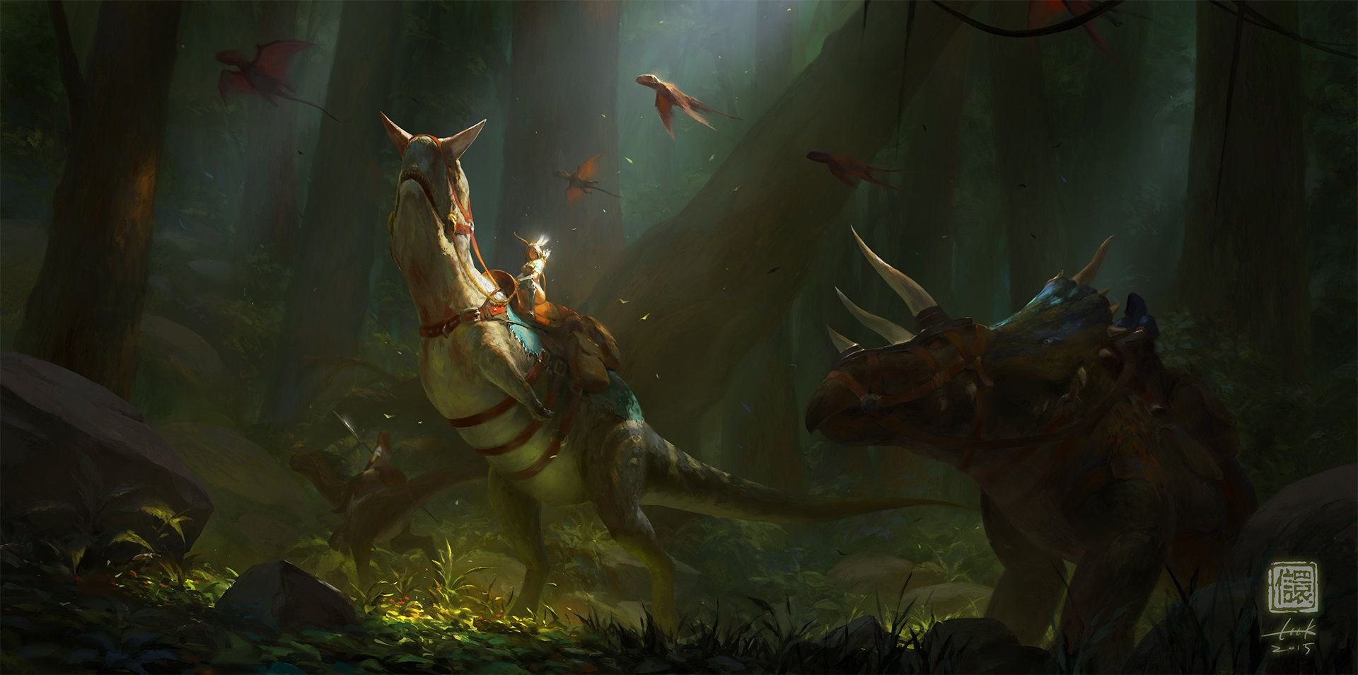 ArtStation - In the Forest, Kan Liu(666K信譞)