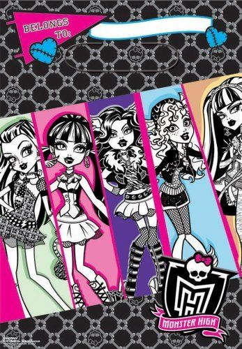 Monster High - Treat Bags Party Accessory by Amscan, http://www.amazon.com/dp/B005NCGHR0/ref=cm_sw_r_pi_dp_hYqhsb1D8MQP4