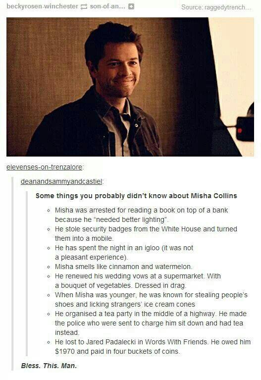 Misha Collins Facts