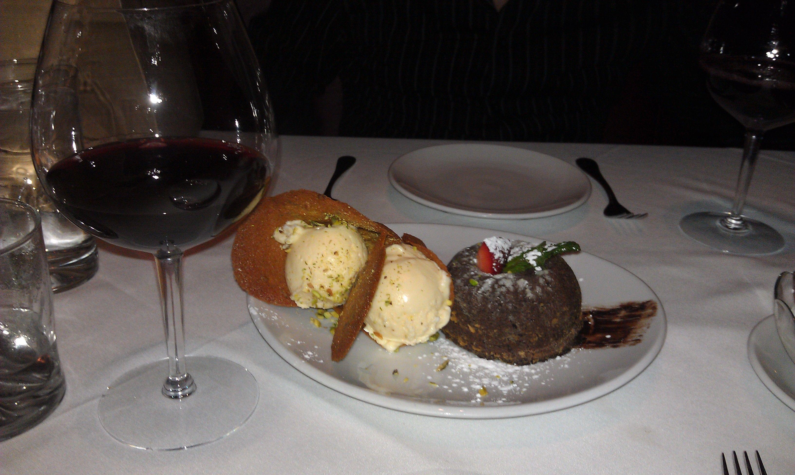 Chocolate lava cake flemings steakhouse chocolate lava