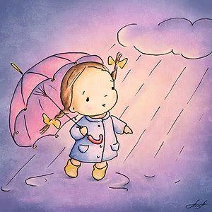 Bajo La Lluvia Ilustracion De Los Ninos Dibujos Ilustraciones