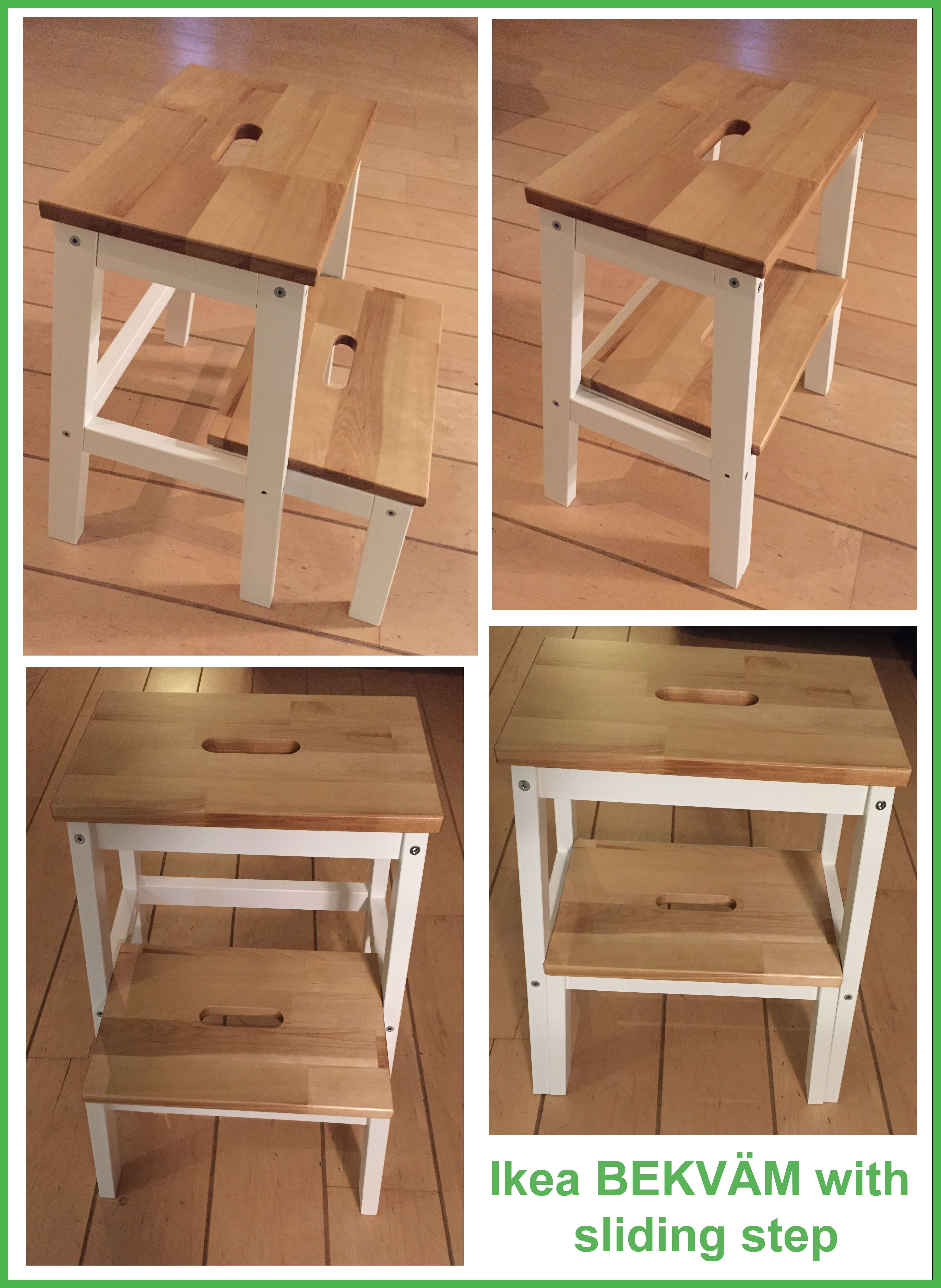 Uberlegen Ikea BEKVÄM Hack; 2 Stools Became 1 Stool With A Sliding Bottom Step To  Safe Space. (like The DANIA STEPLADDER BY SKAGERAK) Van Twee Ikea BEKVÄM  Opstapjes ...