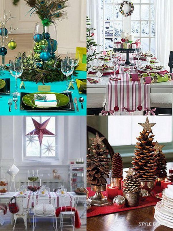 Modern Christmas Table Decorations