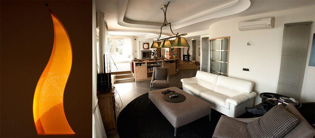 Appartamento Jap Salotto Tv Vetrata Interni A Posillipo Interior