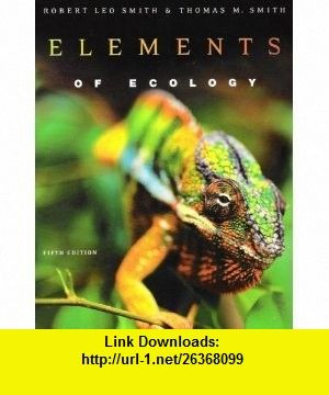 Elements Of Ecology Ebook
