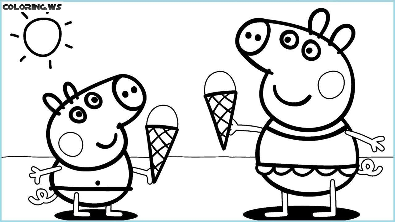 Ice Cream Coloring Pages Peppa Wutz peppa wutz coloring