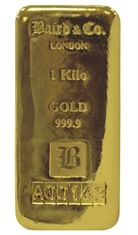 1 Kilo Gold Cast Bar Gold Bullion Gold Bar Silver Bullion
