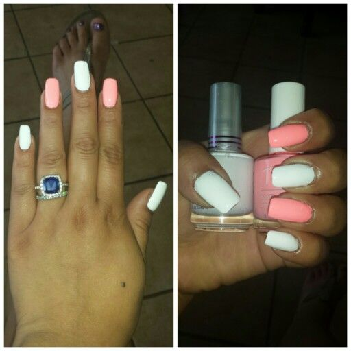 Tictac Peach And Jordana French Manicure Done Att Art Nails2 In