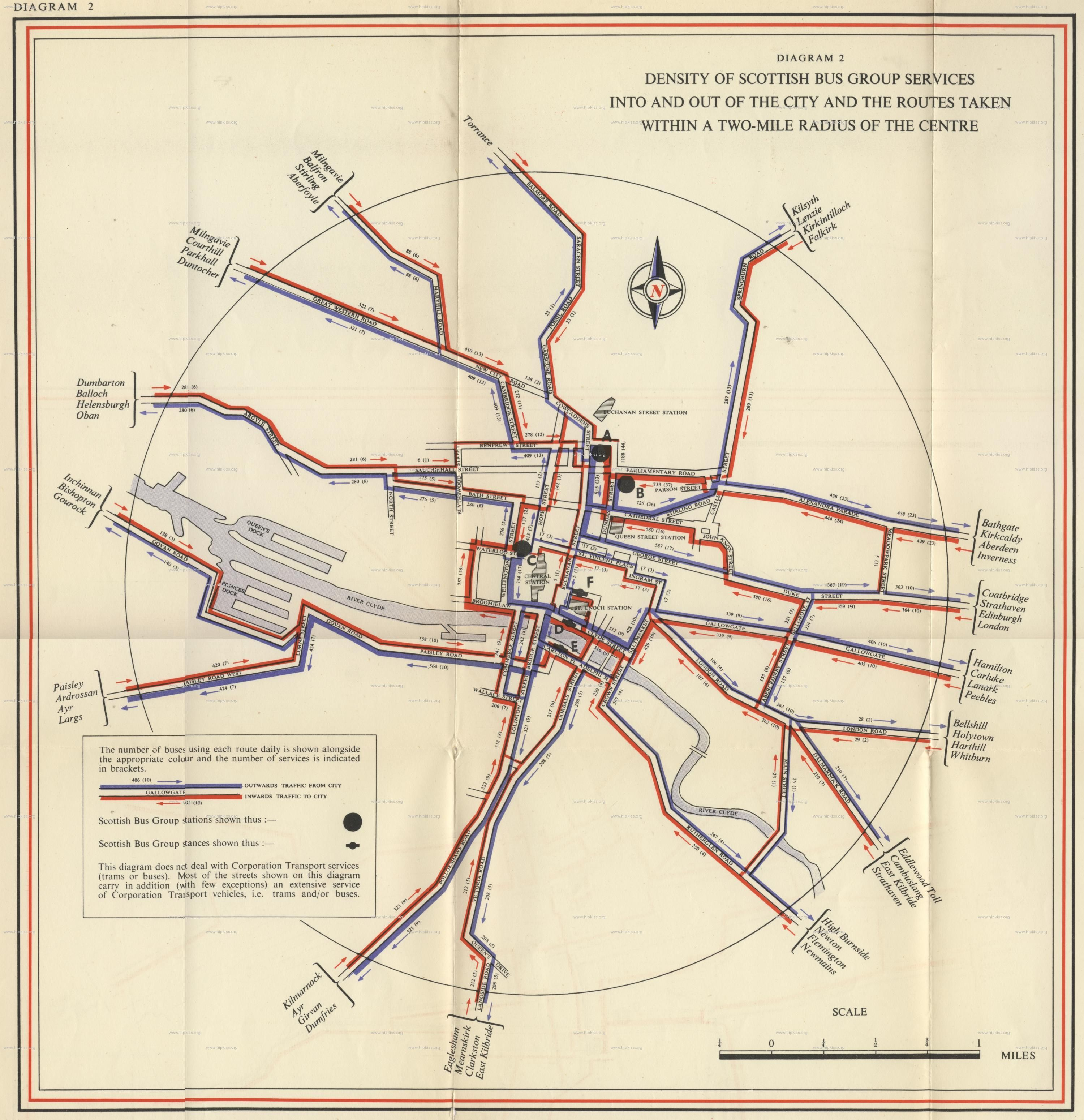 Bus Route Map  C2 B7 British Transport Commission_p Enger Transport In Glasgow