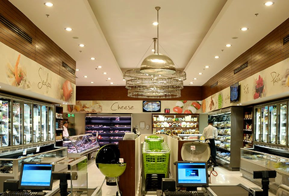 Contemporary Retail Grocery Store Interior Design Of Gourmet Egypt Cairo By Eklego