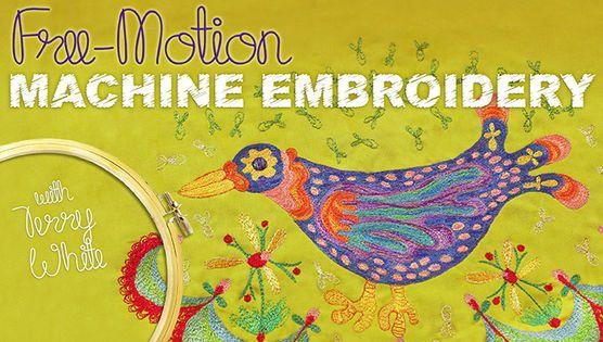 Free Motion Machine Embroidery Embroidery Machine Pinterest