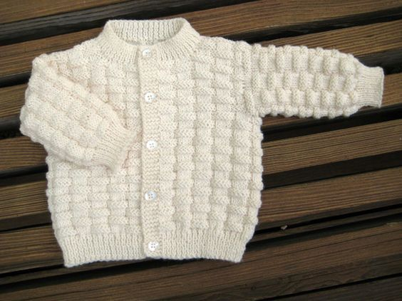 Basket Weave Baby Sweater From Carolerenys Free Pattern