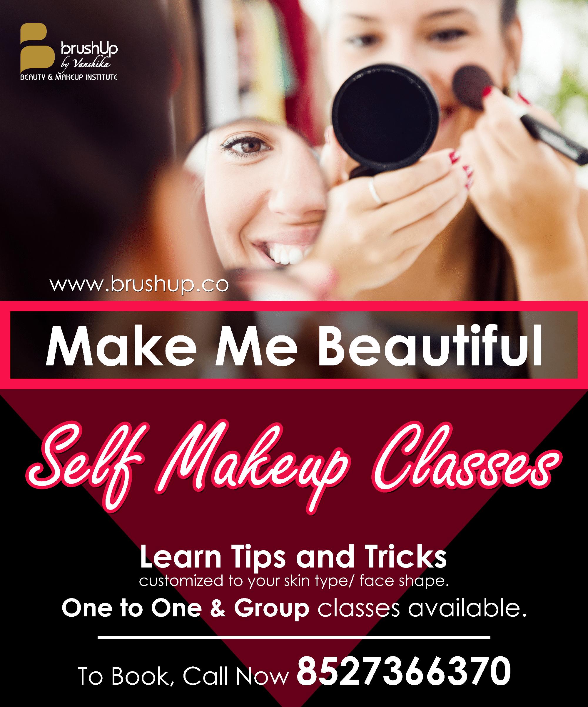 Best Self Makeup Classes Gurgaon BrushUp Grooming Course