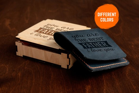 Mens Wallet Personalized Dad Birthday Gifts For From Daughter Fathers Day Gift Son Be