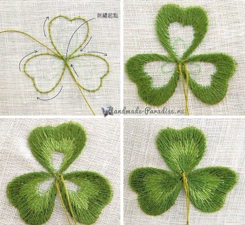 Embroidery Leaves And Hand Embroidery