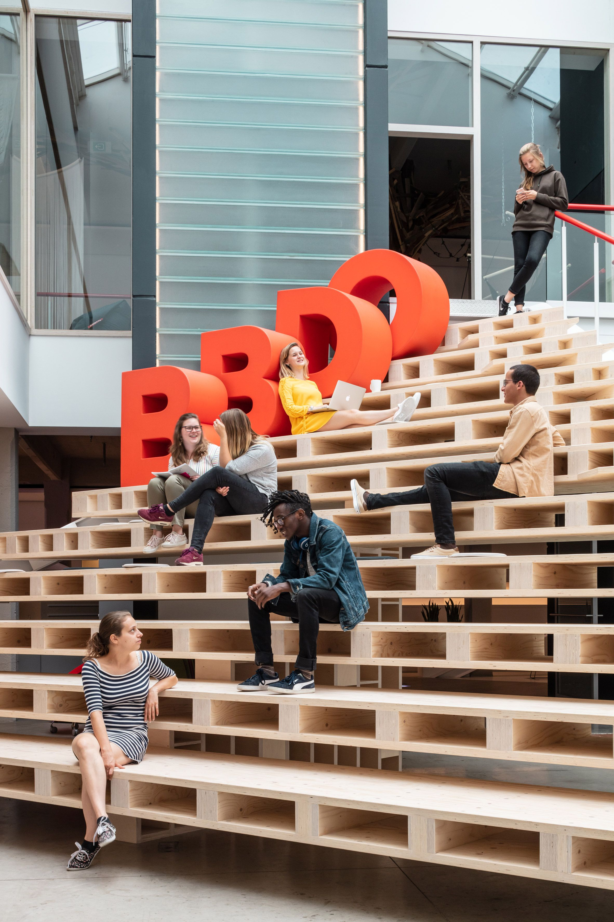 Zampone Creates Bbdo Office In Century Old Wine Warehouse In Brussels Bbdo Store Design Pvc Furniture Plans