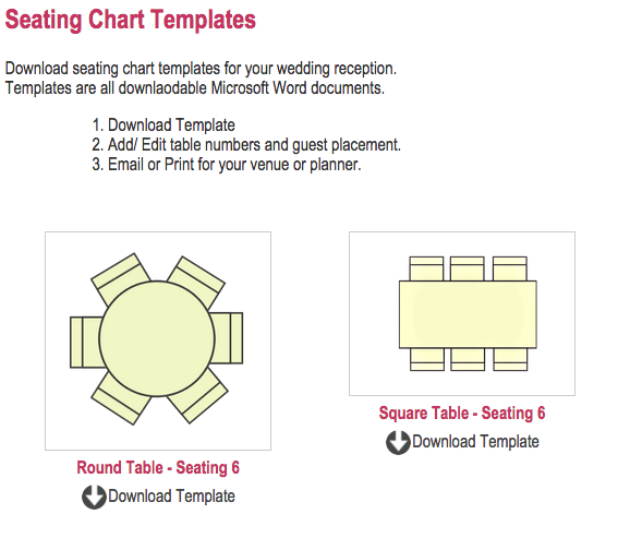 The Ten Best Wedding Seat Chart Template Resources  Home