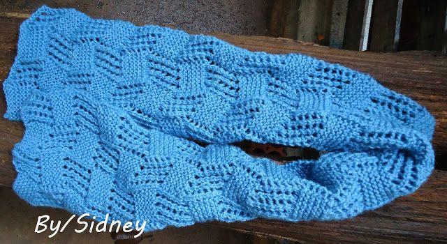 Sidney Artesanato: Cachecol de tricot lace
