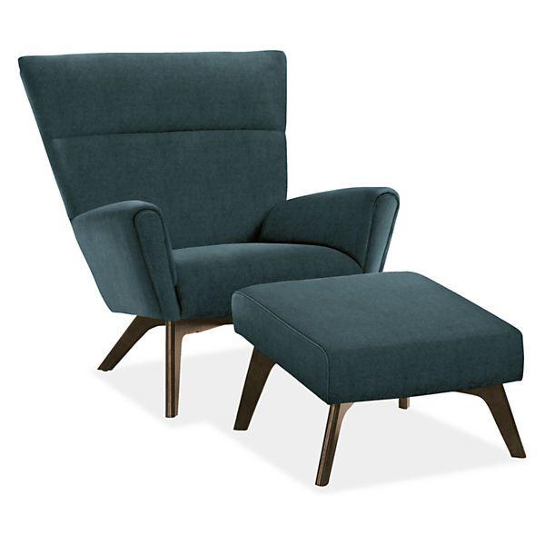 Boden Chair Ottoman Modern Living Room