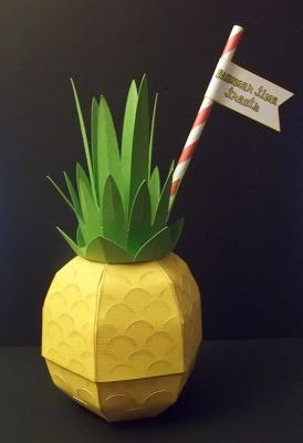 Here S A 3d Pineapple Box From Fruity Fiesta Svg Kit Kathy