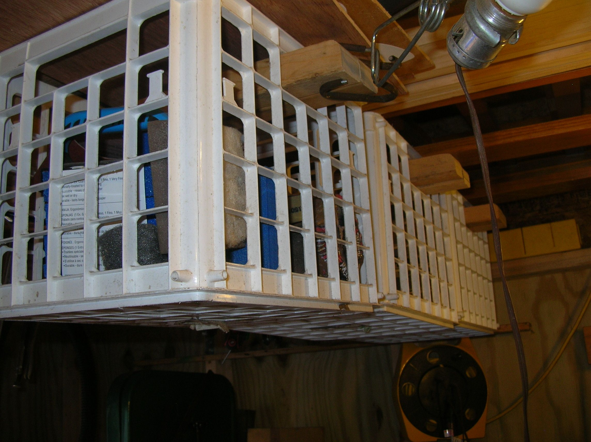 Milk Crate Rafter Storage Fabulous Idea Just Attach A