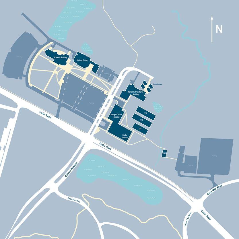 Tcc Chesapeake Campus Map Pinterest