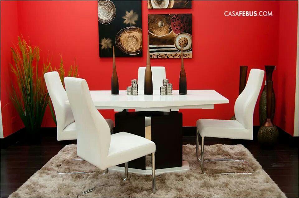 Comedor rojo y blanco | Cuarto | Pinterest | Comedores rojos ...
